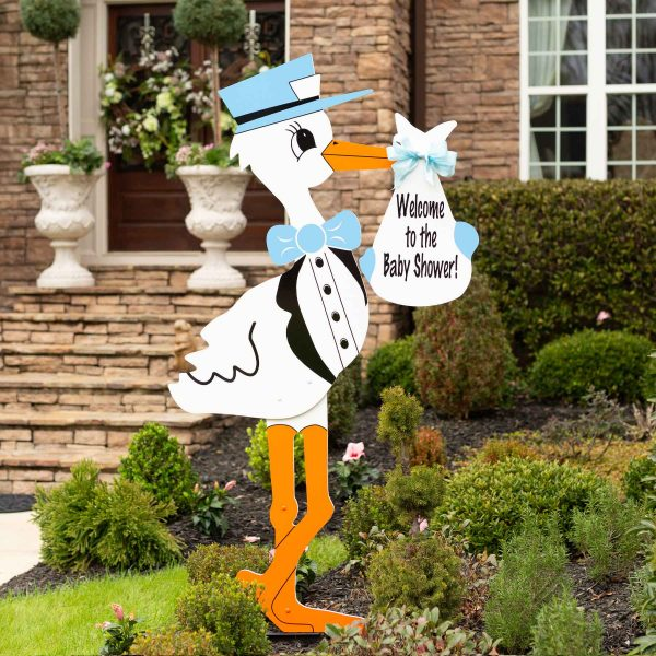 Baby Shower Stork - Blue